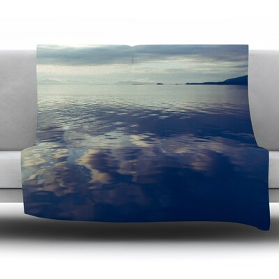 Cloud Atlas by Ann Barnes Fleece Throw Blanket Size: 80 L x 60 W
