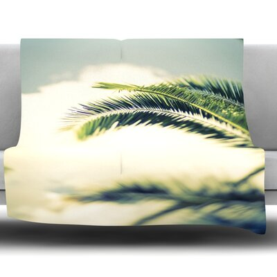Summer Breeze by Ann Barnes Fleece Throw Blanket Size: 60 x 50