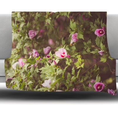 Lush by Ann Barnes Fleece Throw Blanket Size: 80 x 60