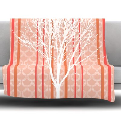 Spring Tree by Pellerina Design Fleece Throw Blanket Size: 80 x 60
