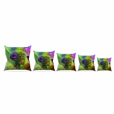 Silhouette by Alyzen Moonshadow Throw Pillow Size: 26 x 26, Color: Dark