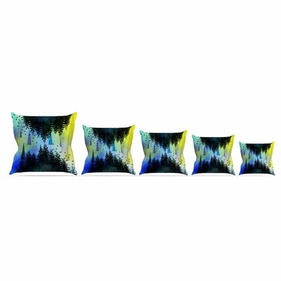 As Above, So Below by Alyzen Moonshadow 16 Throw Pillow Size: 18 x 18, Color: Blue