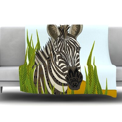 Zebra by Art Love Passion Fleece Throw Blanket Size: 80 L x 60 W