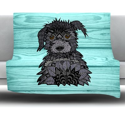 Little Miss Daisy by Art Love Passion Fleece Throw Blanket Size: 40 L x 30 W