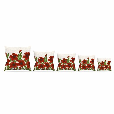 Poppy Field by Art Love PassionThrow Pillow Size: 18 x 18