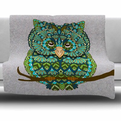Great Owl by Art Love Passion Fleece Throw Blanket Size: 60 L x 50 W
