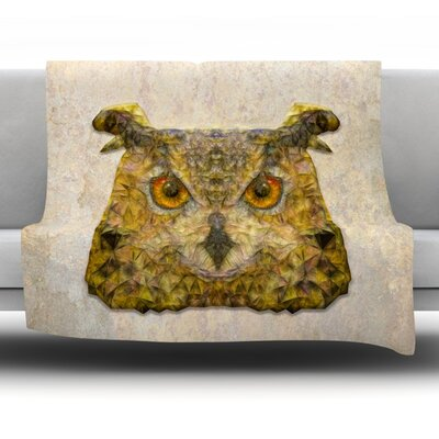 Abstract Owl by Ancello Fleece Throw Blanket Size: 40 L x 30 W