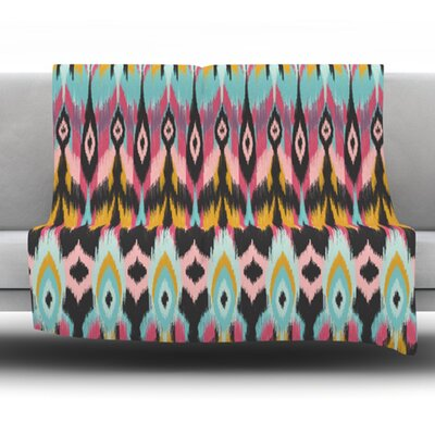 Bohotribal by Amanda Lane Fleece Throw Blanket Size: 80 x 60