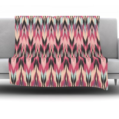 Dreamhaze Tribal by Amanda Lane Fleece Throw Blanket Size: 40 x 30