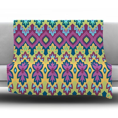 Boho Chic by Amanda Lane Fleece Throw Blanket Size: 80 L x 60 W