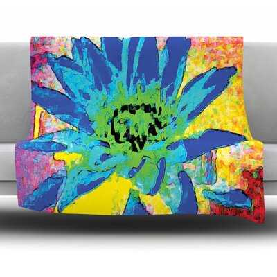 Wild Lotus by Anne Labrie Fleece Throw Blanket Size: 80 L x 60 W