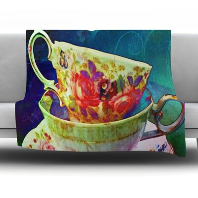 Mad Hatters T-Party V by Alyzen Moonshadow Fleece Throw Blanket Size: 60 x 50