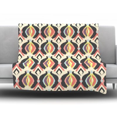 Bohemian Ikat by Amanda Lane Fleece Throw Blanket Size: 80 x 60