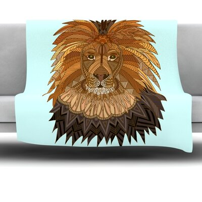 Lion by Art Love Passion Fleece Throw Blanket Size: 60 L x 50 W