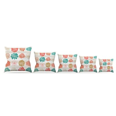 Flower Square by Pellerina Design Throw Pillow Size: 16 x 16