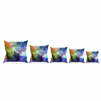 Stairway by Alyzen Moonshadow Throw Pillow Size: 26 x 26