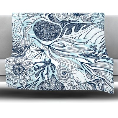 Marina by Anchobee Fleece Throw Blanket Size: 40