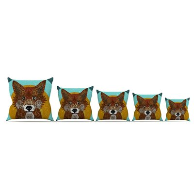 Colored Fox by Art Love Passion Throw Pillow Size: 18 x 18