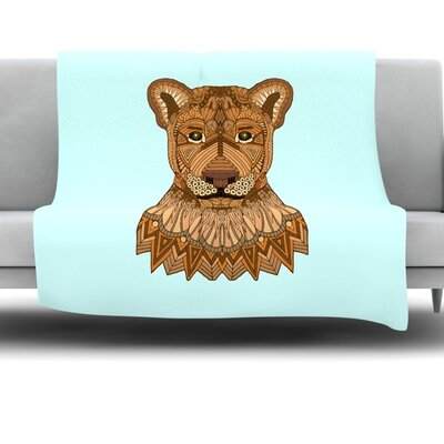 Lioness by Art Love Passion Fleece Throw Blanket Size: 40 L x 30 W