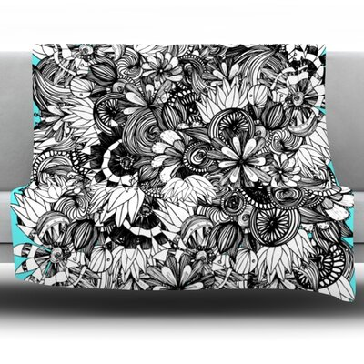 Blumen by Anchobee Fleece Throw Blanket Size: 60 x 50
