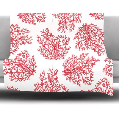Coral by Anchobee Fleece Throw Blanket Size: 60 x 50