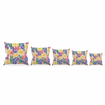 Pretty Bouquet by Amy Reber Throw Pillow Size: 18 x 18