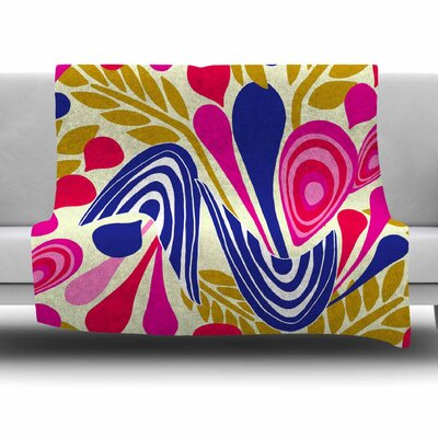 Abstract Bouquet by Amy Reber Fleece Throw Blanket