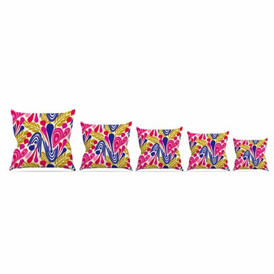 Abstract Bouquet by Amy Reber  Throw Pillow Size: 18 x 18
