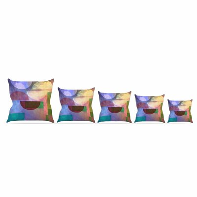 Baying At The Moon by Alyzen Moonshadow Throw Pillow Size: 18 x 18