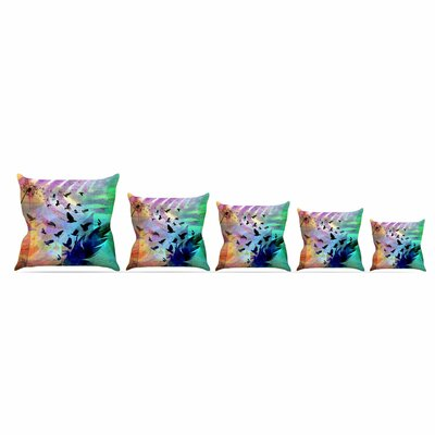 Not Quite Birds Of A Feather by Alyzen Moonshadow Throw Pillow Size: 26 x 26