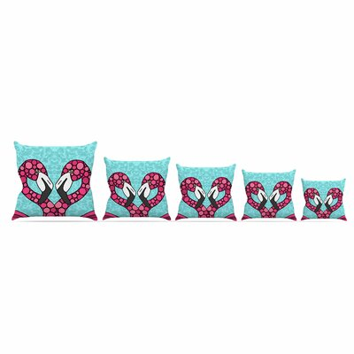 Flamingos by Art Love Passion 16 Throw Pillow Size: 16 x 16