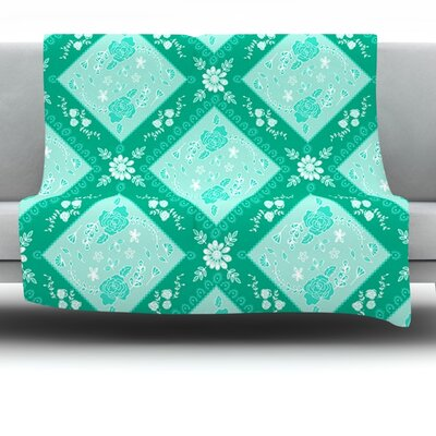 Diamonds Mint by Anneline Sophia Fleece Throw Blanket Size: 40 x 30