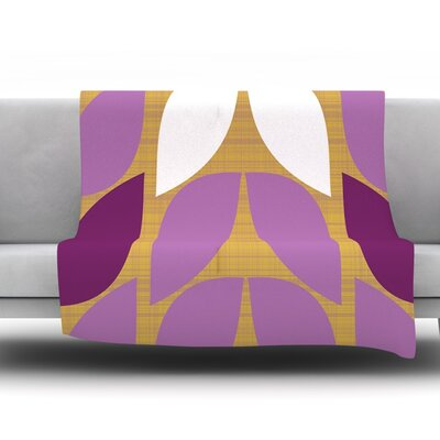 Orchid Petals by Pellerina Design Fleece Throw Blanket Size: 40 x 30