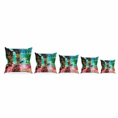 Abstract by Alyzen Moonshadow Throw Pillow Size: 26 x 26