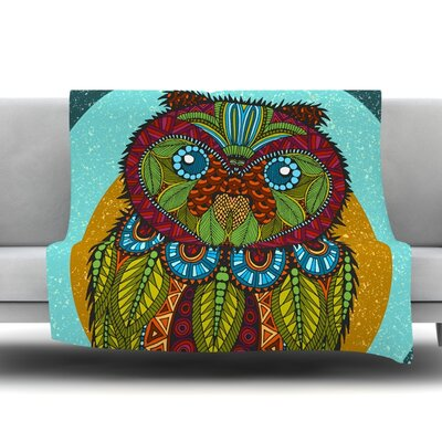 Owl by Art Love Passion Fleece Throw Blanket Size: 60 L x 50 W