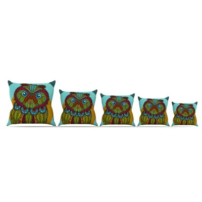 Owl by Art Love Passion Throw Pillow Size: 18 x 18