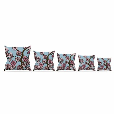 Cherry Blossom Day by Art Love Passion Throw Pillow Size: 16 x 16