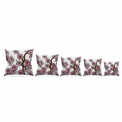 Cherry Blossoms by Art Love Passion Throw Pillow Size: 26 x 26