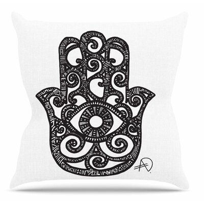 Hamsa Hand by Adriana De Leon Throw Pillow
