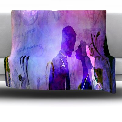 Couple In Love Fleece Throw Blanket Size: 60 L x 60 W