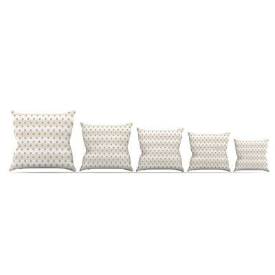 Linen Polka Stripes by Pellerina Design Throw Pillow Size: 16 x 16