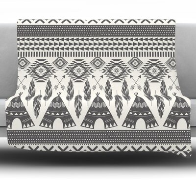 Native Roots by Amanda Lane Fleece Throw Blanket Size: 40 L x 30 W