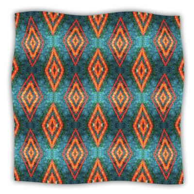 Diamond Sea by Anne Labrie Fleece Throw Blanket Size: 80 L x 60 W