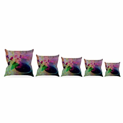 Tea Birds by Alyzen Moonshadow Throw Pillow Size: 26 x 26