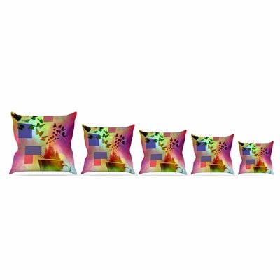 Teacup Fantasy by Alyzen Moonshadow Throw Pillow Size: 18 x 18