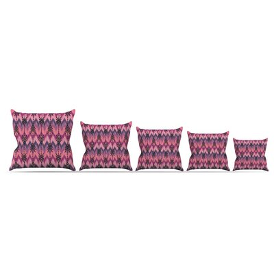 Indigo Orchid Chevron Arrows by Amanda Lane Throw Pillow Size: 18 x 18