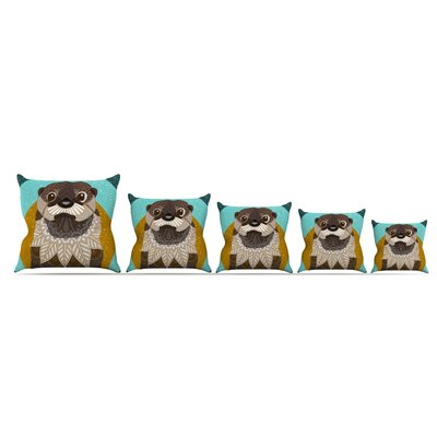 Otter in Water by Art Love Passion Throw Pillow Size: 18