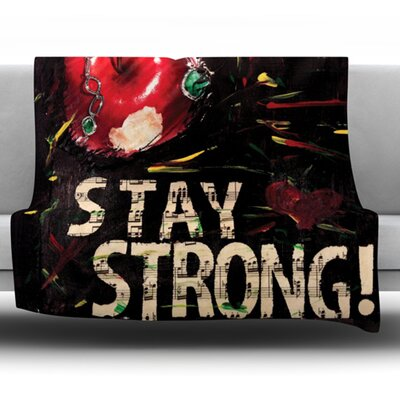 Stay Strong by Alexa Nicole Fleece Throw Blanket Size: 40 L x 30 W