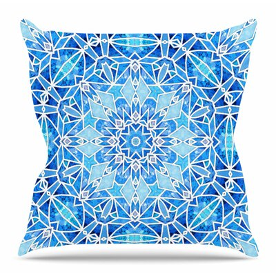 Star Snowflake by Art Love Passion Throw Pillow Size: 18 x 18