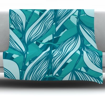 Algae by Anchobee Fleece Throw Blanket Size: 60 x 50